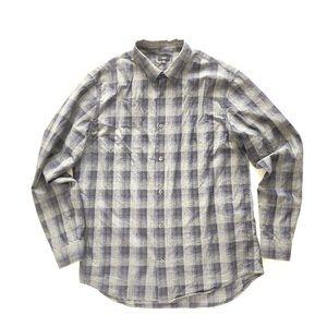 Vince men's plaid shirt sz XL